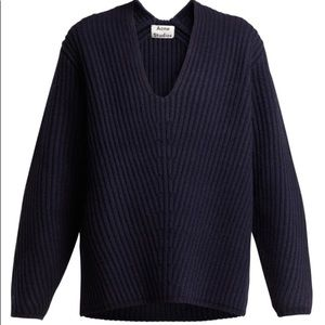 ACNE STUDIOS Deborah Ribbed Wool Sweater